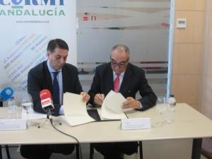 Foto Firma protocolo CERMI-A Consejería Turismo y Deporte