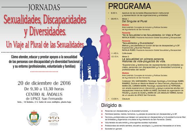 CARTEL-DIPTICO Jornada Sexualidades, Discapacidades y Diversidades