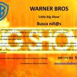 CASTING de Televisión Warner Bross para el programa LITTLE BIG SHOTS