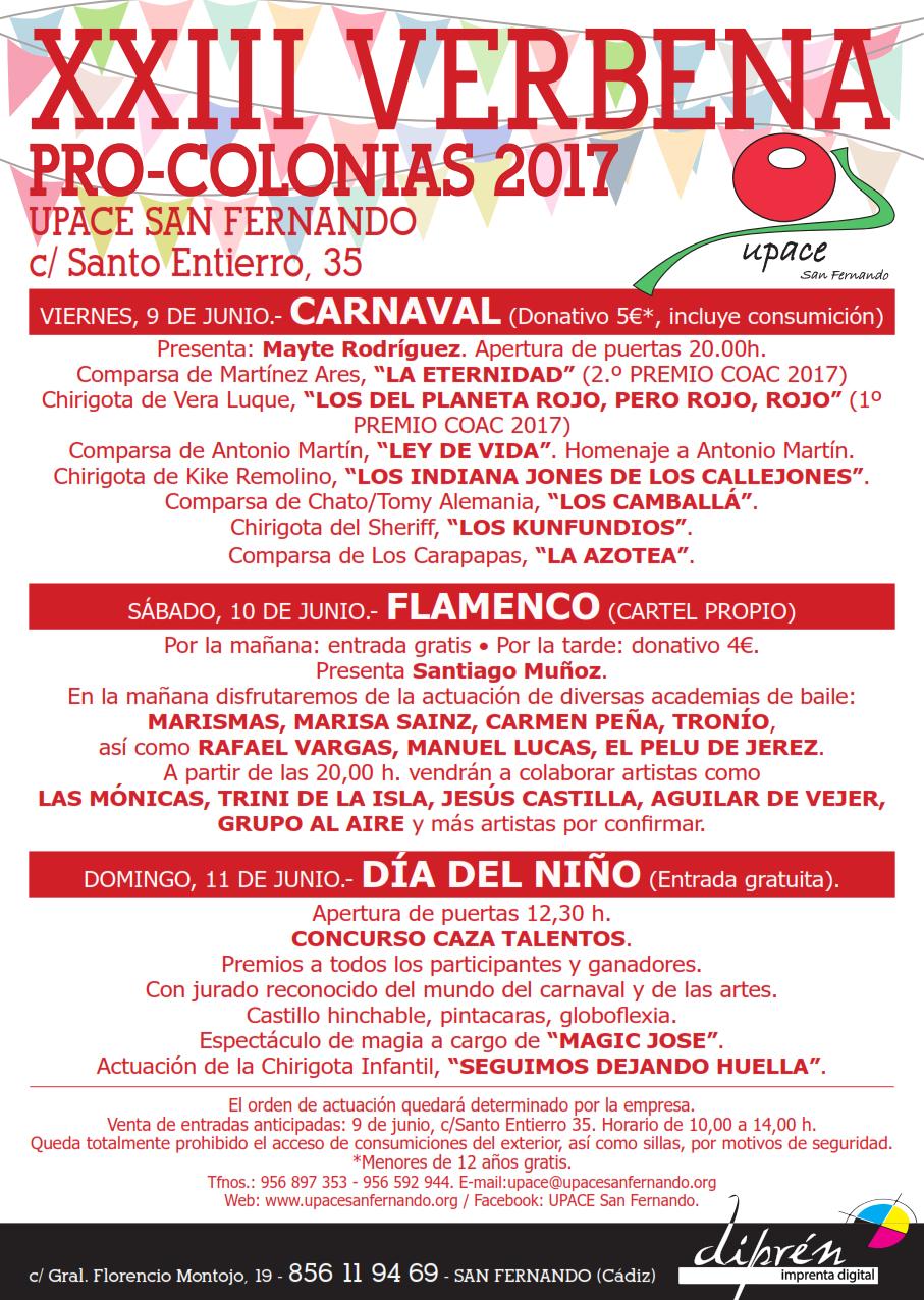 29-05.- N.P. Cartel XXIII Verbena Pro-colonias 2017 UPACE San Fernando_001