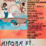 """Cartel de actuaciones de la caseta """"Ahora Sí… Ompare"""" de UPACE San Fernando de la Feria del Carmen y de la Sal de San Fernando"""
