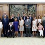 S.A.R la Reina Doña Letizia recibe a la Junta Directiva y al comité ético de Confederación ASPACE junto a una representación de la Red de Ciudadanía Activa ASPACE