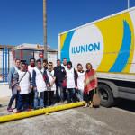 El curso de Lavandería Industrial en Entidades Sociales visita la lavandería ILUNION en Cádiz
