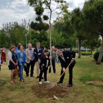 UPACE San Fernando planta tres árboles como símbolo de sus 40 años de vida